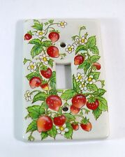Ceramic Switch Plate Cover Single Toggle Strawberries