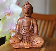 Bouddha de la sagesse méditation yoga zen bien-être en bois de suar Indonésie