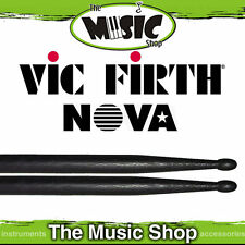 New Set of  Vic Firth Nova 5A Drumsticks with Wood Tip - Black Drum Sticks