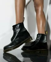 Dr. Martens Womens 1460 8 eyelet smooth black  combat boot US 8