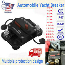30A-300A AMP Circuit Breaker Fuse Manual Switch 12-48V DC Car Boat Waterproof US