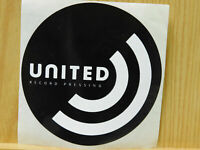 Black and White United Record Pressing unused round sticker 4x4