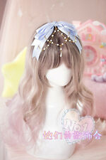 Sweet Lolita Gothic DIY Bow Hair Accessories Ribbon Beads Headbands Princess#GZ2