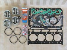 Kubota V2203 Diesel Engine Overhaul Kit / Pistons, Rings, Bearings, Gasket Set