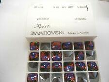 4 swarovski square rivoli stones,18mm volcano #4650