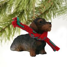 Wire Haired Dachshund Red Dog Original Ornament