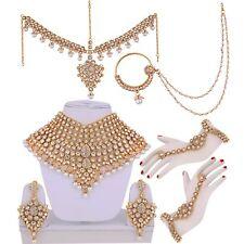 Bollywood Indian Jewelry Jodha Akbar Kundan Bridal Wedding Necklace Set 7 Pcs