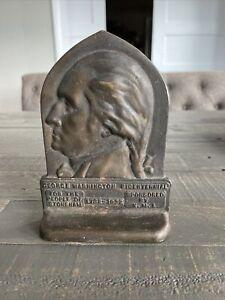 ANTIQUE GEORGE WASHINGTON PROFILE BOOKEND BICENTENNIAL 1732-1932 STONEHAM