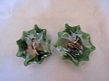 2 x Nos Vintage Christmas Holly Holiday Candles ~ 3.0� Wide
