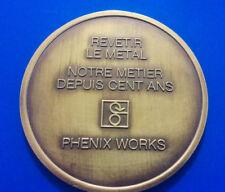 "#1231# JOLIE MEDAILLE ""REVETIR LE METAL""  ""PHENIX WORKS"""