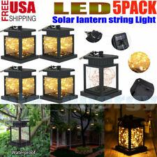 5Pcs Led Solar Power Fairy String Light Lantern Wedding Garden Path Outdoor Lamp