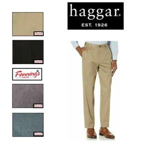SALE NEW Haggar Men's Premium No Iron Twill Pants, Classic Fit - VARIETY SZ/ E43