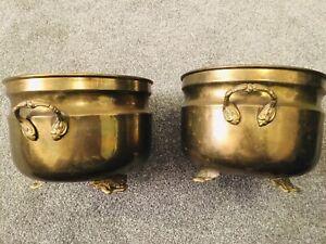 Pair of Vintage Brass Planters/Jardinieres