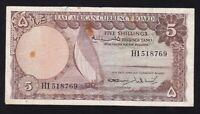 EAST AFRICA ---- 5  SHILLINGS  1964 ------ F -------