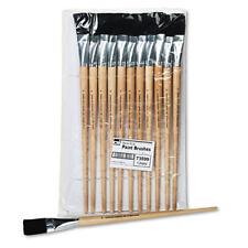 Charles Leonard Long Handle Easel Brush Size 22 Natural Bristle Flat 12/Pack