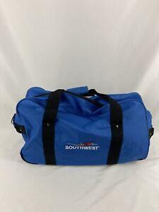 Vintage Southwest Airlines Flight Logo Passenger Carry On Blue Gym Duffle Bag
