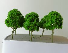 6 LIGHT GREEN MODEL TREES 10 cm SCENERY FOR MODEL RAILWAY OO / HO SCALE NEW B12
