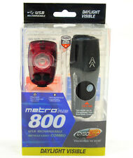 Cygolite Metro Plus 800 + Hotshot Pro 150 Bike Head & Tail Light Combo Set USB