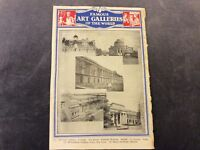 Vintage Book Print - Famous Art Galleries OR Famous Libraries - 1936