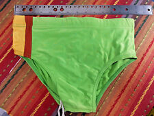 Sunwear Men's Lime Bikini - Nylon/Spandex -Front Lined, Size M - VTG