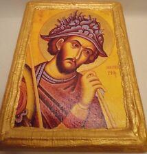Saint Mercury Mercurius Agios Merkourios Greek Orthodox Icon Ancestry Name Art