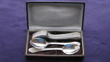 Rare Very SILVER PLATED SET 8 cutlery  Melchior cupronickel  USSR.