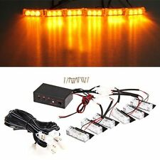 Car 18-LED Amber Strobe Emergency Flashing Police Warning Grill Light 12V 3W SS