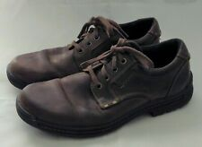 Ecco Men's Sz 43 / 9 to 9.5 Lace Up Brown Leather Sneakers Shoes Water Repllent