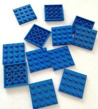 LEGO 12X PIASTRE 4X4 QUADRATE BLU LOTTO PLATE SET KG SPED GRATIS SU + ACQUISTI