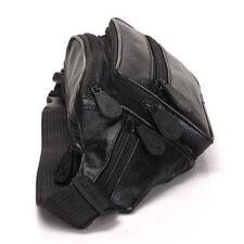 Leather Fanny Pack Waist Bag 6 Pockets Adjustable Belt Strap Travel Purse Pouch