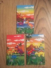 Set Of 3 Dinosaur Mini Notepads. Elf Sized Prop. Stocking / Party Bag Filler.