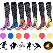 Unisex Compression Socks Running Anti Fatigue Graduated Travel  Sleeve US