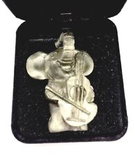 Vintage Pewter Mini Music Guitar Playing Elephant Figure (Other Marking Noted)