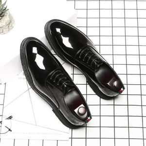 Mens Business Oxford Pu Leather Lace Up Loafers Casual Comfortable Flats Shoes 8