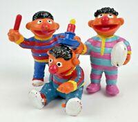 Vintage Ernie PVC Figure Lot of 3 Toys Sesame Street 1982 Applause Figurine 80's