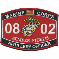 "US Marine Corps 0802 Artillery Officer MOS Patch 4 1/2"" x 3 1/4"" Licensed"