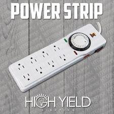 POWER STRIP SURGE GROW LIGHT TIMER 8 OUTLET 15 AMP 24 H