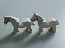 Lego  4493c01pb04# 2x Pferde Pferd  weiß 6761 6086 6762 6769