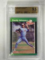 1989 Donruss The Rookies Randy Johnson Rookie RC #43 BGS 9.5 GEM MINT