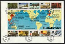 1994 WWII 4th Year Sc 2838 a-i pane of 10 First Day Cover Fleetwood