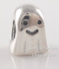 Retired GHOST Authentic PANDORA Silver HALLOWEEN Charm 790202 NEW w POUCH!