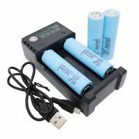 4pcs 18650 Battery 2500mAh 3.7V Li-ion 25R Rechargeable High Drain + USB Charger