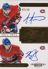 11-12 Dominion PEN PALS xx/50 Made! Louis LEBLANC - Blake GEOFFRION - Canadiens