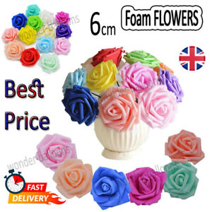 100pcs /Large 6cm Foam Rose Heads Artificial Flower Heads Wedding Decoration