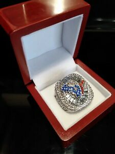 HOUSTON TEXANS Ring & Wooden Display Box NFL Football Collectible Size 11