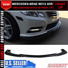 10-13 E Class W212 4Dr AMG Godhand Style Front Bumper Lip Carbon Fiber CF