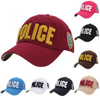 Unisex Police Law Enforcement Cap Military Top Embroidered Baseball Hat Adjust