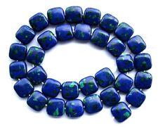 "Azurite Malachite Flat Square Beads 12×12mm15.5"""