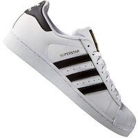 adidas Originals Superstar Herren | Damen Sneaker C77124 Weiß Halbschuhe Leder