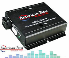 Abldr2 American Bass 4 Channel High To Low Level F&R Out Converter